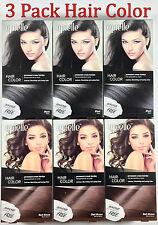 3pk Epielle Black & Brown Hair Coloring Dye for Women 5 Minute color Cream