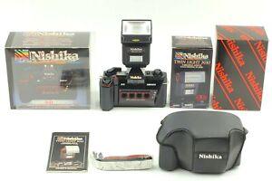 【Unbenutzt IN Karton W / Doppel Flash + Hülle 】 Nishika N8000 3D 35mm Film