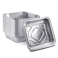 25 Pack - 8? x 8? Square Baking Cake Pans Heavy Duty Disposable Aluminum Foil