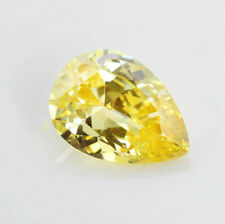 Light Yellow Sapphire 1.90CT 6x8MM Pear Cut AAAAA VVS Loose Gemstone