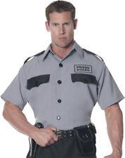 Morris Costumes Men's Prison Guard Officer Shirt Gray Black One Size. UR28297