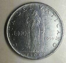 100 lire 1959 Citta del Vaticano Giovanni XXIII circolata buona conservazione