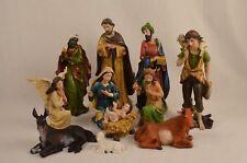 11 Piece Christmas Nativity Scene Set, 300mm, Resin
