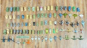 Micro Machines Lot 96 Pieces HUGE Military Jets Tanks WWII Pre-Owned Collectable