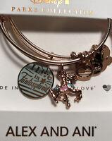 Disney Parks ALEX & ANI I Live In Fantasyland Rose Gold Bracelet