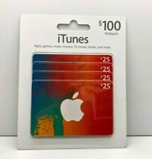 $100 (4 X $25) APPLE US iTUNES CARD Gift Certificate FAST FREE Shipping