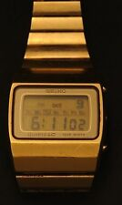 Seiko Quartz LC Digital Watch - M154-4018 [4019T] - Gold Tone - LCD Japan