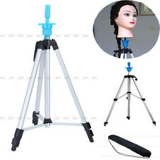 """Cosmetology Tripod Doll Stand Mannequin For Head Practicing Can& Carry Bag 55"""""""