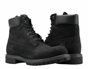 Timberland 6-Inch Premium Waterproof Black Nubuck Men's Boots 10073
