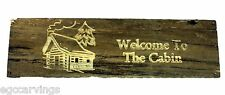 Welcome to The Cabin Barn Wood Rustic Country Primitive Sign Log home decor