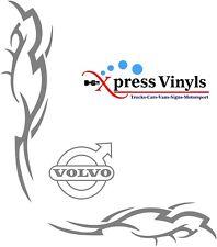 Volvo decals x 2 vinyl cut truck stickers FM FH13 FH16 FMX FE
