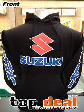 SUZUKI HOODIE BIKE RACING TEAM BLACK  HOODED SWEATSHIRT PULLOVER NEW