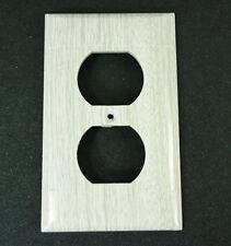 Vintage Outlet cover Sierra Electric Grey Oak Woodgrain  Plate NOS Wood grain