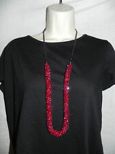 Phosphorus Necklace Red Womens NWT