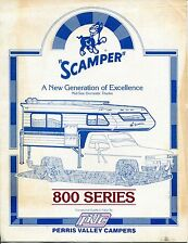 "Vintage Ad Brochure: ""SCAMPER"" Travel Camper: ""800 Series"""