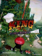 BBQ Kurt Adler BBQ King Christmas Ornament Dollhouse Miniature Fairy Garden