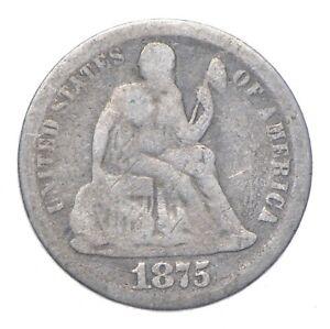 Full Liberty - 1875-CC Seated Liberty Silver Dime *206
