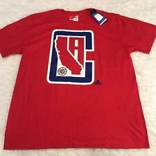 Los Angeles Clippers T Shirt Mens Sz XL Red Adidas The Go To Tee NBA Basketball