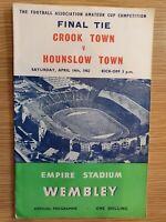 1962 FA Amateur Cup FINAL CROOK TOWN v HOUNSLOW TOWN 14th April