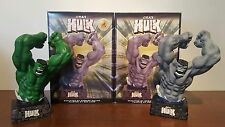 "GRAY HULK #488/1963 & VARIANT GREEN HULK #044/100! SET DYNAMIC FORCES 9.5"" BUSTS"