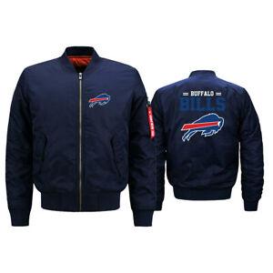 Buffalo Bills Mens Pilot Bomber Jacket Flying Tigers Flight Thicken Jacket Coats