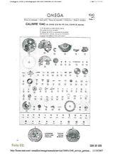 1040-1105 Click Spring 5Pcs Original Omega Replacing Part Calibre