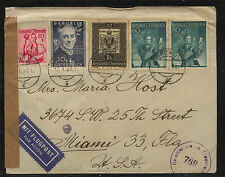 Austria 568,572,B272 (2)  on  censor cover to  US     MS0601