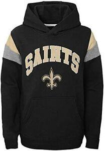 New Orleans Saints Youth Boys Color Block Pullover Hoody Sweatshirt