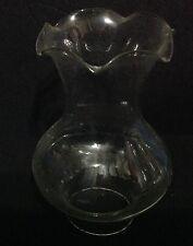 Ar87 Lume a petrolio campana in vetro ricambio glass verrè diam. inf. 3,3 cm