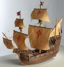 "Elegant, Detailed Wooden Model Ship Kit by Disar: the ""Nao Victoria"""