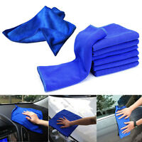 10Pcs Microfiber Towel Kitchen Wash Auto Car Home Cleaning Wash Clean Cloth Blue