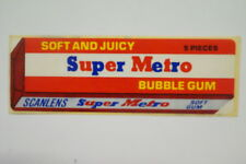 Scanlen's Super Metro Bubble Gum sticker
