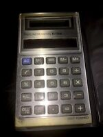 Texas Instruments TI-1766 Electronic Calculator Vintage Solar & Light Powered