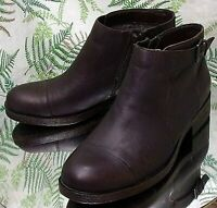 BORN BROWN LEATHER FASHION ANKLE BOOTS BUSINESS DRESS SHOES US WOMENS SZ 7.5 M