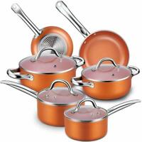 10 piece Professional grade kitchen cookware set nonstick pots and pans cooking