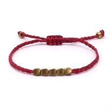 BENAVA Tibet Armband Tibetisches Freundschaftsarmband Rot Kupfer Anhänger