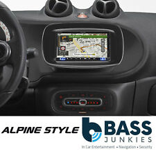 "Alpine Smart Fortwo DAB Bluetooth CarPlay Android 7"" Screen & Black Fitting Kit"