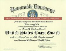 United States Coast Guard Honorable Discharge Replacement Certificate
