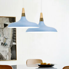 Wood Pendant Light Kitchen Chandelier Lighting Blue Lamp Modern Ceiling Lights