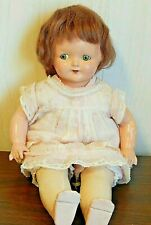"Vintage 1929 Effanbee BABY DAINTY 14"" Composition Mama Doll w/Flirty Eyes"