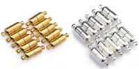 10 Sets Silver Plated/Gold Plated Oval Magnetic Clasps 19mm Jewelry Findings DIY