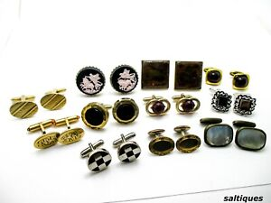 Estate Cuff Links Lot ASSORTED Cufflinks wear or resell lots mens jewelry