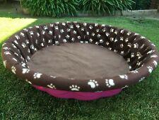 Medium Fleece Whelping Pool Box Cover - Litters Puppies Kiddie Wading Paw Prints