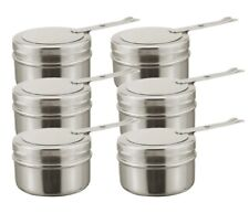 Set Of 6 Chafing Fuel Holders Spare Fuel Holder 18/8 Stainless Steel 9cm x 6.5cm