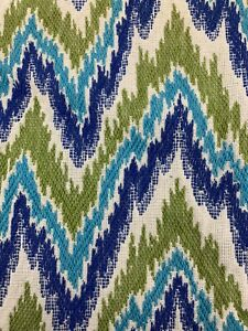 Vintage Mid Century Retro Fabric Embroidered Chevron Zig Zag 1960-70's Remnants