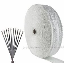 "FIBERGLASS EXHAUST HEADER PIPE WRAP 2""X100' KIT BEST PRICE ON EARTH TURBO TAPE"