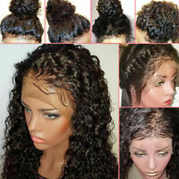 Glueless 100% Human Hair Full Lace Wigs Lace Front Wigs Soft Curly For Women