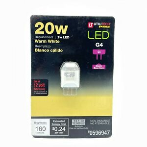 Utilitech Pro LED G4 2W/20W 12V - 2 PIN Wedge Style Light bulb Warm White Color