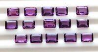 25 Pcs 12 Cts Octagon Cut Natural Amethyst Cut Lot Loose Gemstones 4X6 MM P-256