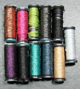 11x Needlepoint/Embroidery THREAD KREINIK 12 Braid metallic-mixed-ZZ612